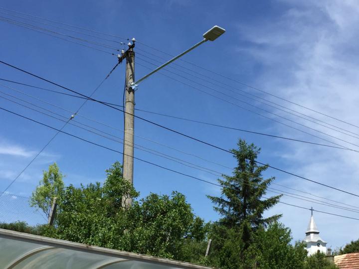LED pouliční osvětlení v obci